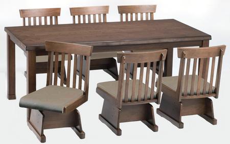 ダイニングテーブルセット こたつ式8点・ハイタイプひだまり180 BR(イス4脚) (専用布団付)NEW2013