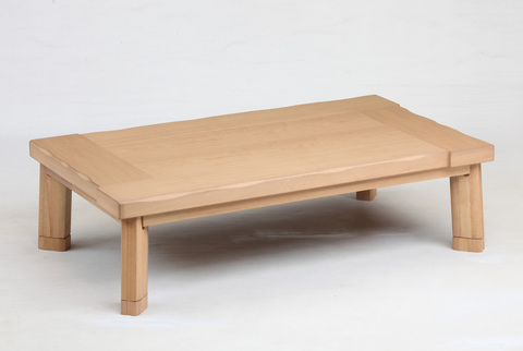 こたつテーブル タモ 【嵐山120】120cm幅 長方形 4人用 (人感センサースイッチ付き)
