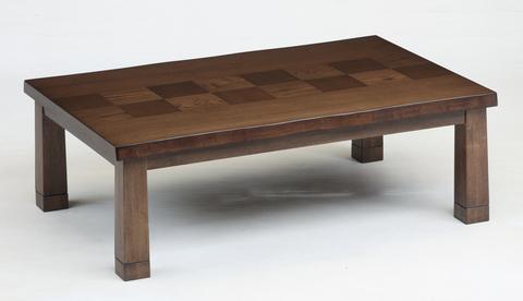 こたつテーブル  【淡路(あわじ)120】120cm幅 長方形 4人用 (人感センサースイッチ付き)