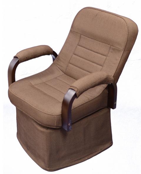 ダイニングこたつ 椅子リクライニング機能つき、チェア