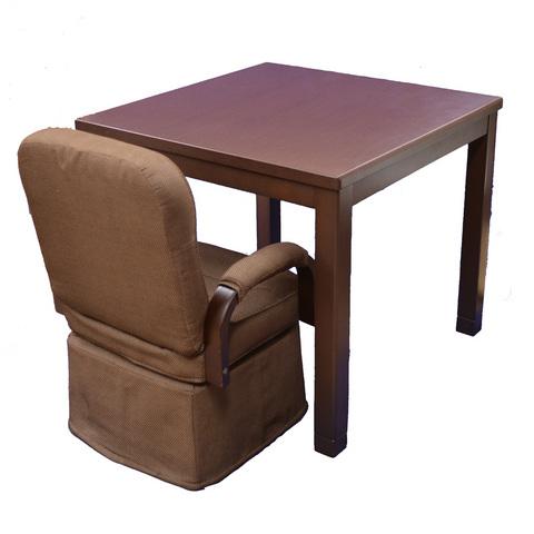 ダイニングこたつ2人用 4点セット(小柄な人・お年より向けの椅子を採用)