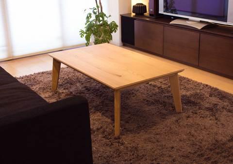 おしゃれなこたつテーブル 【パリス105】 長方形