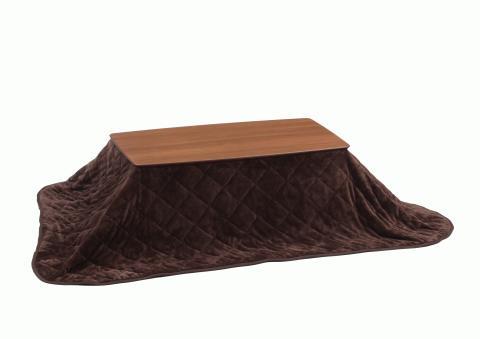 1人用こたつテーブル おすすめの布団セット激安 モカ105㎝