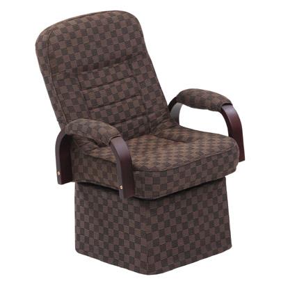 ダイニングこたつ 椅子 リクライニング機能つき、回転チェア S3(お年寄りに最適)