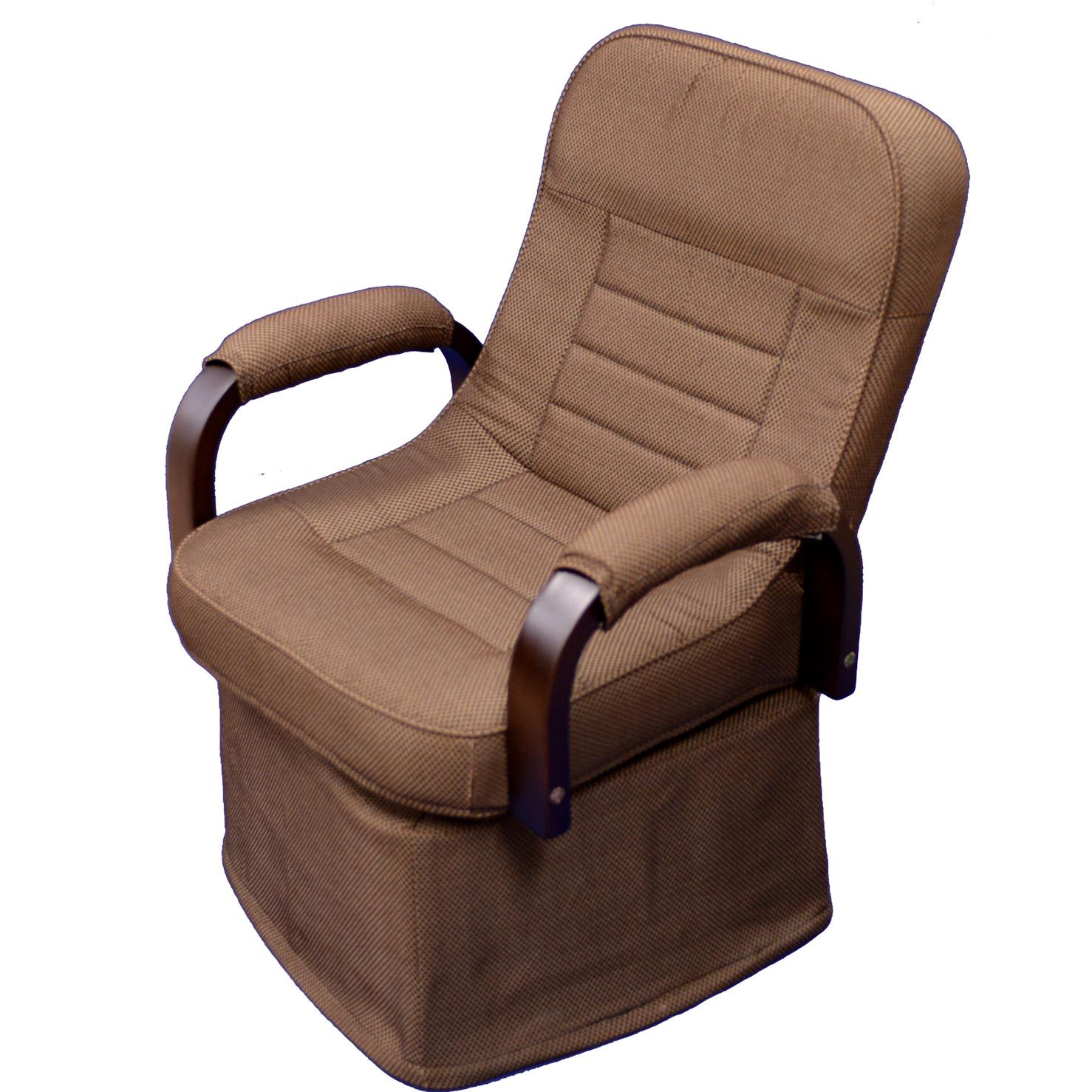 ダイニングこたつ 椅子 リクライニング機能つき、回転チェア DWS-10H(ダイニングこたつに最適)